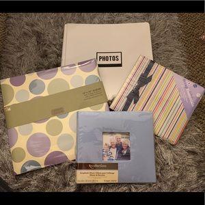 Bundle of Scrapbook Albums & Page Protectors NIP!